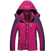 Chaqueta Softshell Hombre Mujer Chaquetas 3 en 1 Montaña de Invierno Abrigo Impermeable Chaqueta de Acampada y senderismo