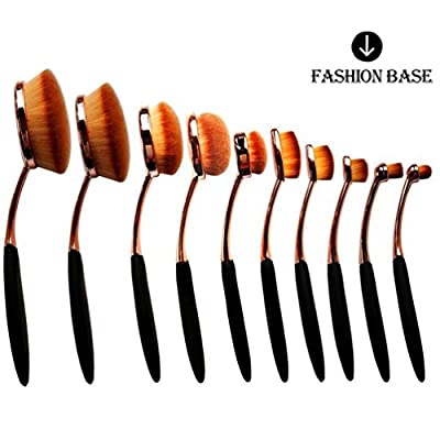 Fashion Base® 2016 Hot Rose Golden Beauty New Elite Oval Tooth Design Makeup Brush Set For Applying Cosmetic Products Amazing Set