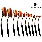 Fashion BaseHot Rose Golden Beauty Make-up-Pinselset mit ovalem Pinselkopf, für professionellen Gebrauch