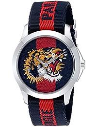 Gucci Unisex-Armbanduhr Quarz Nylon YA126495