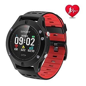 Reloj inteligente,Reloj deportivo con altímetro/ barómetro /termómetro y GPS incorporado, rastreador de ejercicios para correr, senderismo y escalada, IP67 monitor de frecuencia cardíaca resistente al agua para hombres, mujeres y aventureros.