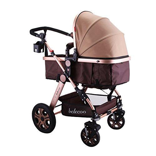 Cueffer Cochecito de Bebé Plegable Cochecito de Niño Confortable con Capacidad de 25KG Baby Stroller