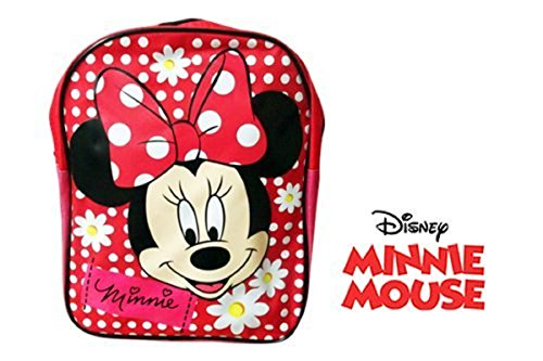Image of KIDS CHARACTER BACKPACK SCHOOL SHOULDER BAG FUN FOOD PICNIC BOX NURSERY (Minnie Mouse D1)