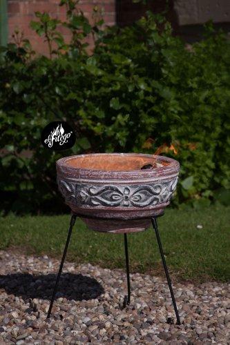 El Fuego hidalgo-3535cm Durchmesser Hidalgo aus Ton inklusive Ständer und Deckel–Braun