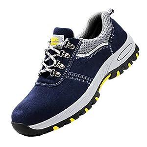 51iG4hSnLQL. SS300  - DoGeek Zapato Seguridad Zapatos Trabajo con Punta de Acero Antideslizante, Senderismo Unisex-Adulto