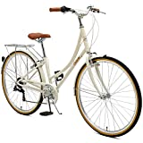Critical Cycles Damen Beaumont-7 Seven Speed Lady's Urban City Bike, Eggshell, 44cm