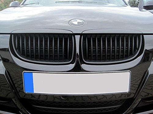 Kühler- Sport- Front- Rippen- Grill Nieren Schwarz Matt Eintragungsfrei Set