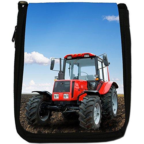 Trattore Medium Nero Borsa In Tela, taglia M Modern Red Tractor
