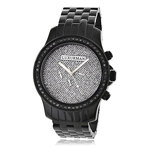 LUXURMAN 2275 - Reloj para Hombres, Correa de Acero Inoxidable Color Negro