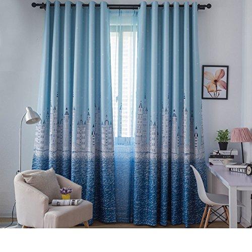 Blackout vorhänge gardinen Shading fabric vorhang Living room Schlafzimmer Balkon fertiges produkt Stoff Leinen mit allen vorhängen Dicke vorhänge-C 200x270cm(79x106inch)