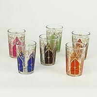 """6 Orientalische Gläser /""""Tamansourt/"""""""