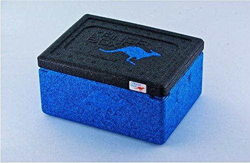"Thermobox , Kängabox , ""MINI"" , Transportbox, Pizzabox , 1,5 Liter , 21x16x11,5cm , verschiedene Farben wählbar (A4- Blau)"