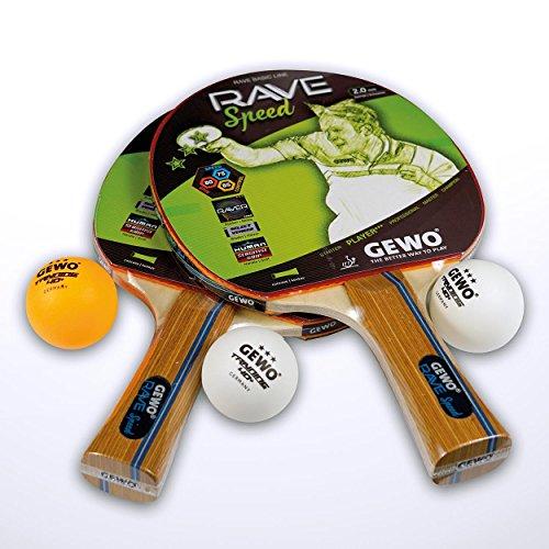 GEWO Rave Speed Tischtennisschlägerset, Braun, One Size