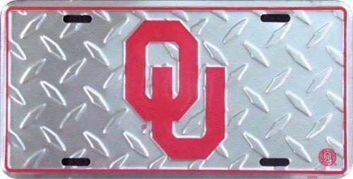 Oklahoma University Diamond Cut NCAA Tin License Plate by Tag City