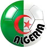 Akachafactory autocolant Sticker Equipe Voiture Moto Football Drapeau Ballon Foot Algerie