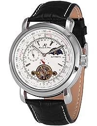 KS KS069 - Reloj Mecánico Automático Hombre, Correa de Cuero Negro