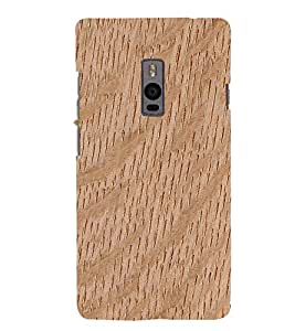 Wooden Curve Background 3D Hard Polycarbonate Designer Back Case Cover for OnePlus 2 :: OnePlus Two