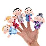 #9: Chocozone Family Finger Puppet, Multi Color (Pack of 6) Mumma Papa GrandPa GrandMa Brother Sister