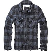 Brandit Checkshirt Flanel Shirt Black-Grey M