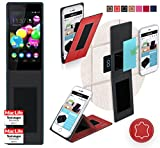 Wiko Highway Pure Hülle Cover Case in Rot Leder -