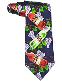 100%SILK ELEGANCE GRAPES WINE BOTTLE ITALIAN DESIGN TIE **SAME DAY POSTING**