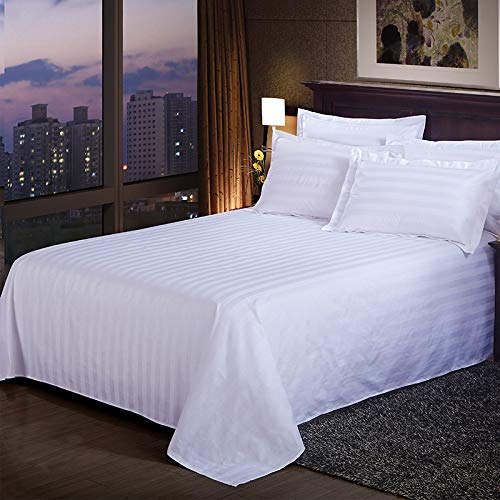 "AmazingHind Premium Export Hotel Quality 300TC Bedsheet for Extra King Bed 100% Cotton Satin bedsheet With 4 Pillow Cover|King Size Bed Sheet with 4 Pillow Covers|Pure Cotton White Bed Sheets with 4 Pillow Covers (White, 108""x120"", Extra King)"