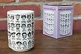It's Hard to Get a Handle on the Kings and Queens of England - Tasse à thé en porcelaine avec toute la lignée royale