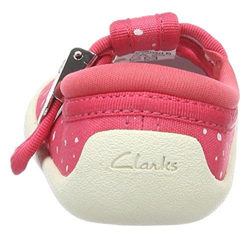 Clarks Baby Mädchen Choc Cake Krabbel-& Hausschuhe Pink (Pink Canvas)