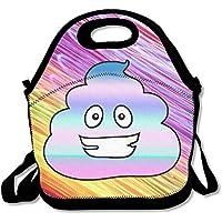 Preisvergleich für Unicorn Poop Emoji-Lunch Bag Handtasche Lunchbox Food Container Tote Cooler Warm Tasche für Schule Arbeit Büro