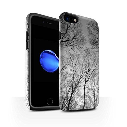 STUFF4 Glanz Harten Stoßfest Hülle / Case für Apple iPhone 8 / Sonnenstrahlen Muster / Winter Saison Kollektion Grauer Himmel