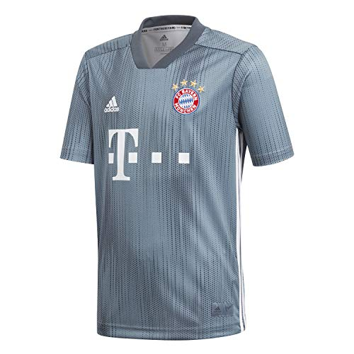 adidas Kinder 18/19 FC Bayern 3rd Trikot, Raw Steel/Utility Blue/White, 140