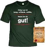 T-Shirt Heute bin ich gut Fun Shirt Geburtstag Geschenk geil bedruckt mit Spassvogel Urkunde