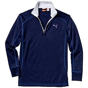 Puma Golf Ls 1/4 Zip Top – Jr – peacoat