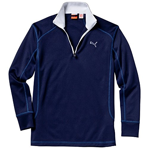Puma Golf Ls 1/4 Zip Top - Jr - peacoat, Größe:152