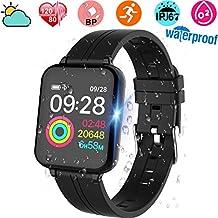 Smartwatch, Anding Reloj Inteligente Impermeable IP67 con Pulsómetro, Cronómetro, Monitor de sueño,