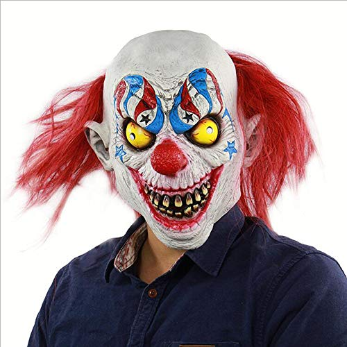 Halloween Horror Devil Clown Maske Beängstigend Cosplay Böse Zirkus Clown Maske Haunted Haus Dressing Kopfbedeckung