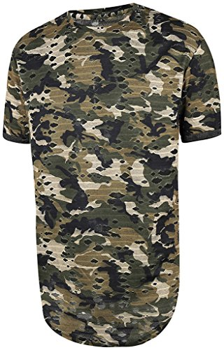 pizoff-men-t-shirt-summer-length-camouflage-camo-torn-hole-layered-style-hip-hop-unisex-casual-shirt