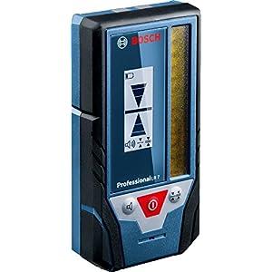 Bosch Professional Receptor de Láser LR 7 (para láser rojo y verde, 2 pilas AAA, alcance: 5-50 m, estuche)
