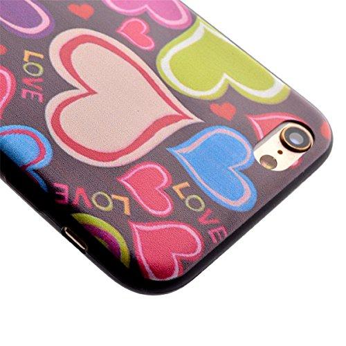 Felfy Case Coque Pour iPhone 6S,iPhone 6 Coque,iPhone 6S Case Case Ultra Mince Slim Coque Gel Souple Soft Flexible TPU Silicone Fashion Etui Painted Motif Design Bumper Anti Waterproof Scratch Cas Hou Amour Case