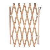 barriera di sicurezza estensibile recinzione sicurezza infantile di legno NATURALE pieghevole griglia di separazione per animali cani neonato bambino per installare in Scale porte