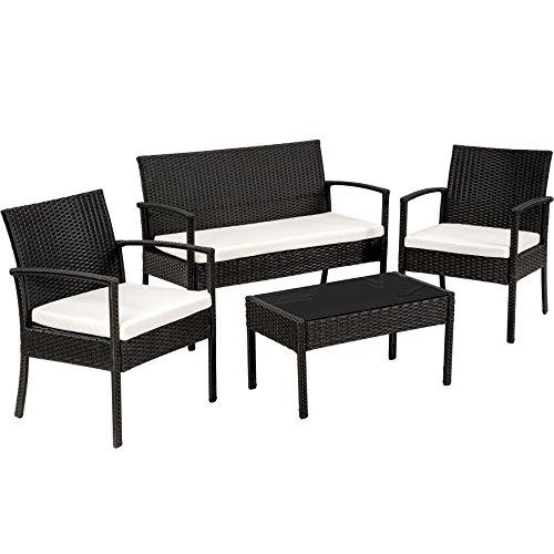 TecTake Salon de jardin Table de jardin en resine tressee chaises salon d'exterieur...