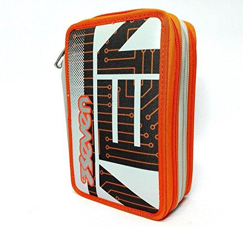 Trousse 3 zip Seven l'école SJ Circuit Boy Orange stylos école New 2016