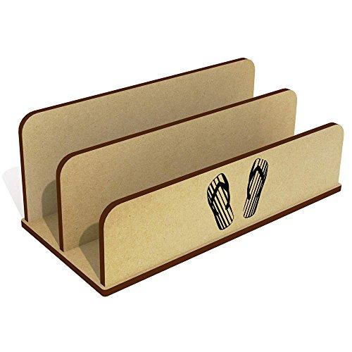 Azeeda 'Gestreifte Flip Flops' Hölzern Brief Halter / Veranstalter (LH00017022) -