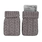 Aroma Home Click & Heat Knitted Hand Warmers Grey Reusable Warming Hot Packs
