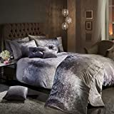 Viceroybedding OMBRE Crushed Velvet Diamante Bedding Bedroom Collection (Mink Double Duvet Cover Set Including Pair of P/Case)