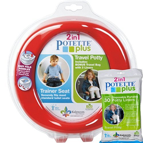 red-potette-plus-port-a-potty-training-potty-travel-toilet-seat-2-in-1-bundle-with-potette-plus-line