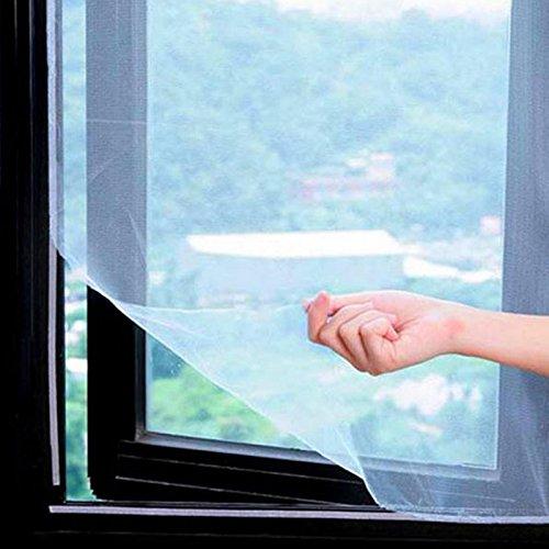 Bolange fai-da-te finestra autoadesiva reticolato reticella in rete, 160 * 130cm (a circa 62.99x51.18 pollici), con adesivo magico, montato su più porte windows