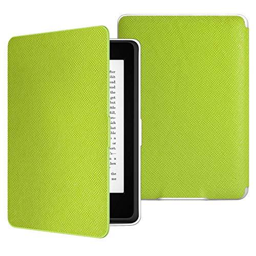 MoKo Kindle Paperwhite Hülle - Ultra Leightweight Schutzhülle Smart Cover mit auto Sleep / Wake Funktion für Alle Kindle Paperwhite (2016 / 2015 / 2013 / 2012 Modelle mit 6 Zoll Bildschirm), Nicht Kompatibel für All-new Paperwhite 10th generation 2018, Grün