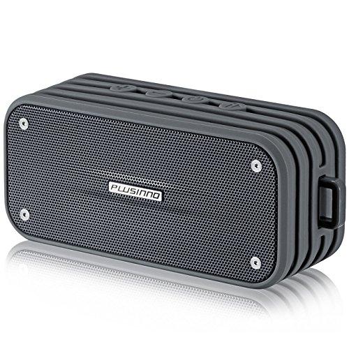 Bluetooth Lautsprecher, Plusinno® Ultramobile Bluetooth 4.0 Wasserdicht Wireless Speaker mit integrierten Siri / Sprachsteuerung, Bluetooth Receiver und Bulid Mikrofon (Grau)