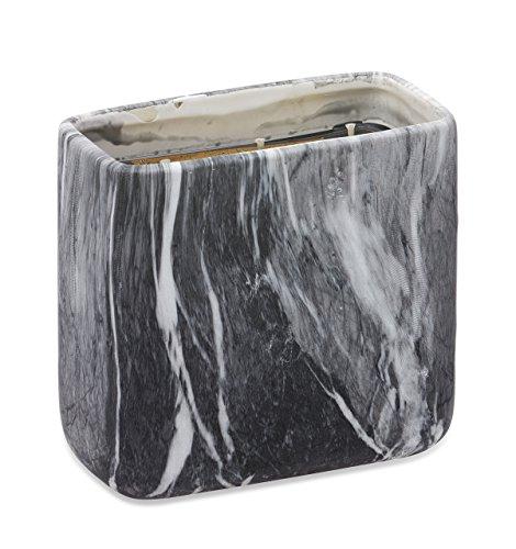Deco Flair groß schwarz Marmor Keramik Kerze, Honig Bourbon (Votive Soja-wachs)